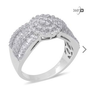 Simulated Diamond 9.25 Sterling Silver Ring